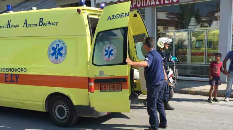 Ανήλικος παρασύρθηκε από μηχανάκι σήμερα το πρωί στα Τρίκαλα