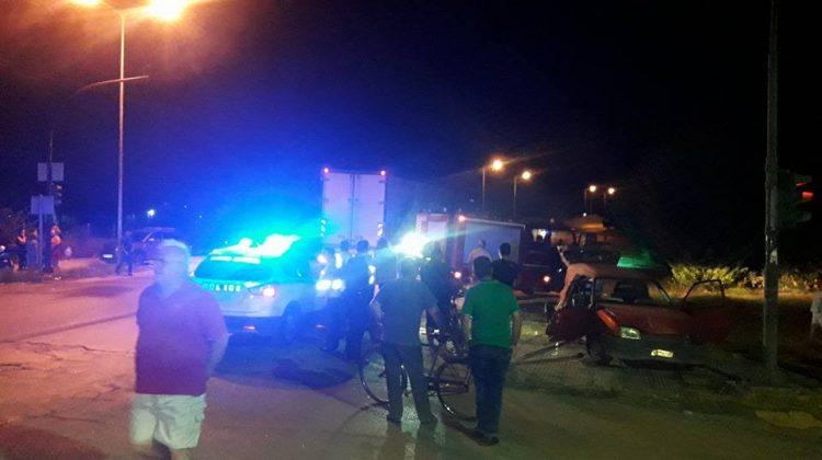 Νταλίκα παρέσυρε Ι.Χ. χθες βράδυ στα Τρίκαλα - 2 τραυματίες